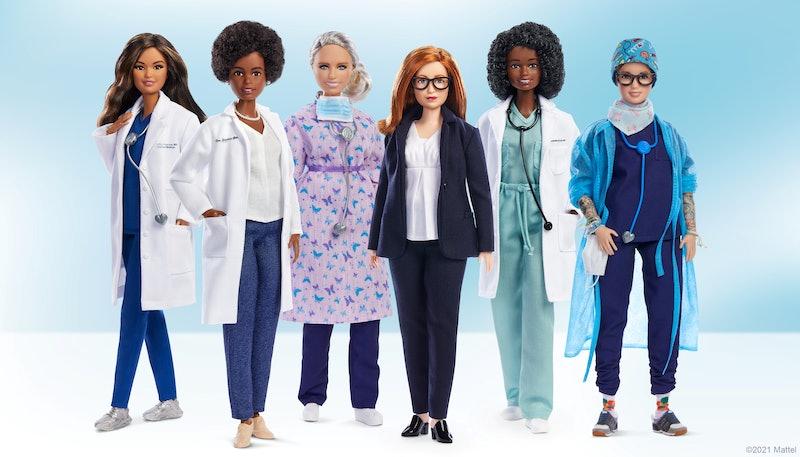 Barbies of Professor Sarah Gilbert, Dr Chika Stacy Oriuwa, Amy O'Sullivan, Dr Audrey Cruz, Dr Jaquel...