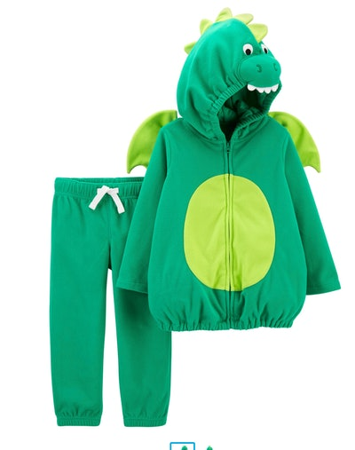 Image of a two-piece kid's dragon halloween costume.
