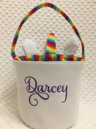 Unicorn Halloween Personalized Bucket