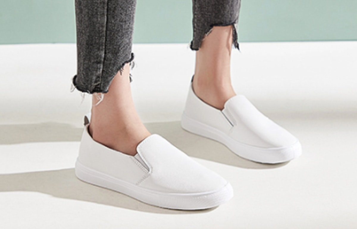 hash bubbie PU Leather Slip On Shoes