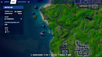 fortnite week 9 alien artifact location 4 map