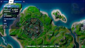 fortnite week 9 alien artifact location 5 map