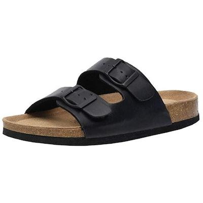 CUSHIONAIRE Lane Cork Footbed Sandal