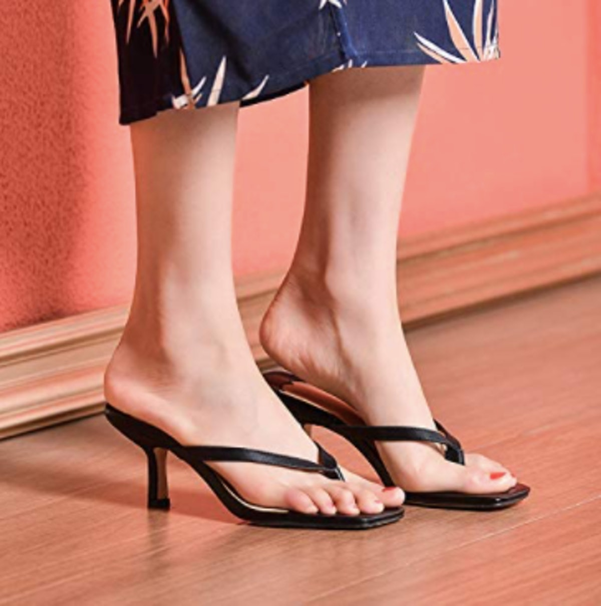 WETKISS Kitten Heel Sandals