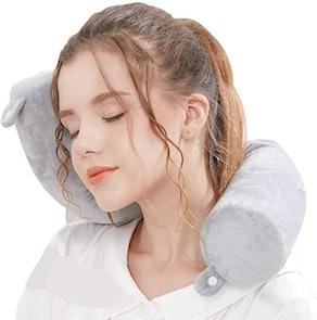 Lucear Twist Memory Foam Travel Pillow
