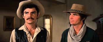 Richard Benjamin and James Brolin star in Westworld.