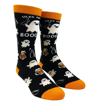 Here For The Booze Funny Unisex Halloween Socks