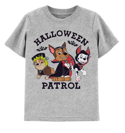 Image of a toddler's Halloween Paw Patrol t-shirt.