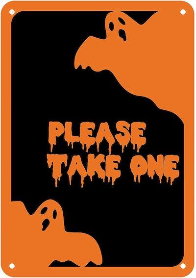 please take one halloween sign- aluminium sign