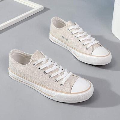 ZGR Women's Canvas Lace-up Sneaker