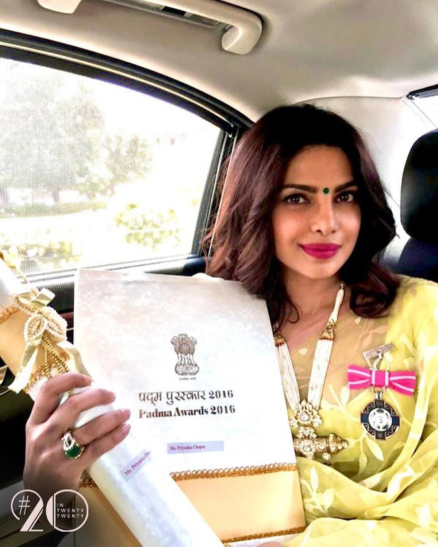 Priyanka Chopra with Padma Shri award
