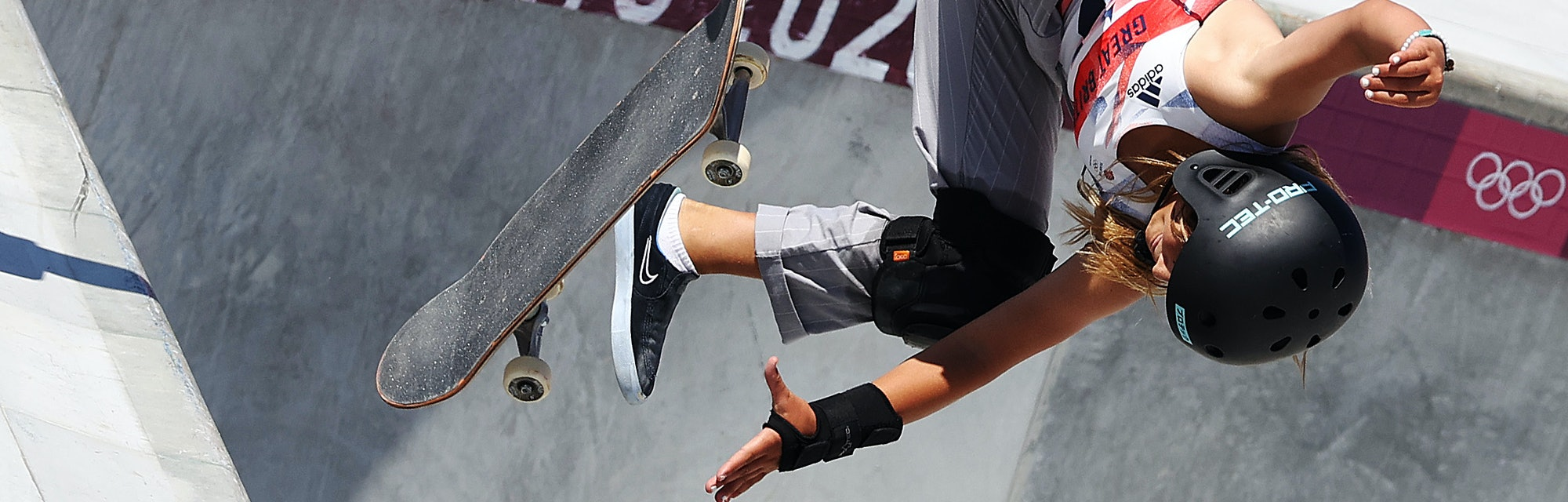Sky Brown of Great Britain competes in the final of the Women's Park Skateboarding on day twelve of ...