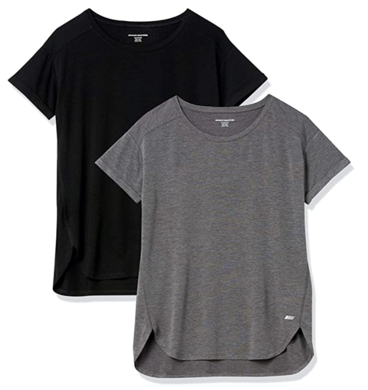 Amazon Essentials Relaxed-Fit Lightweight Crewneck T-Shirt (2-Pack)