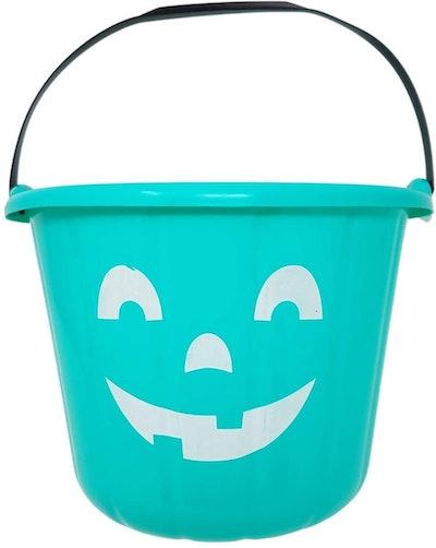 Teal Trick or Treat Pumpkin Halloween Bucket