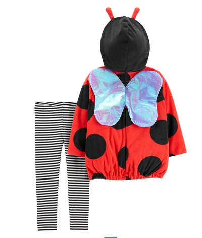 Image of a toddler's two-piece ladybug Halloween costume.