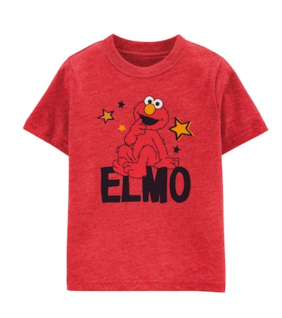 Image of a red t-shirt with Elmo on it.