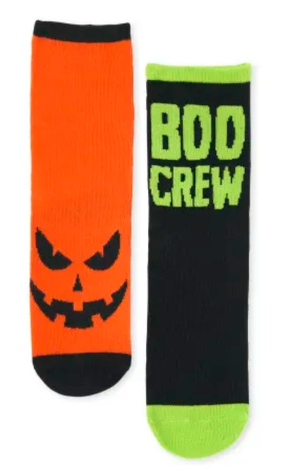 Unisex Kids Halloween Crew Socks 3-Pack