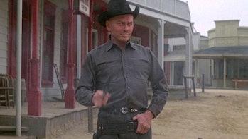Yul Brynner as the Gunslinger in Westworld.