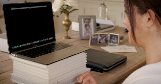 Meghan Markle's desk includes a very blurry photo of son, Archie.