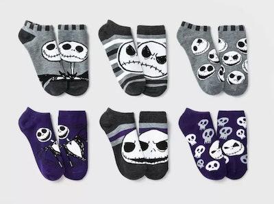 Women's Nightmare Before Christmas 6pk Low Cut Socks
