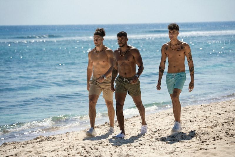 Jarred Evans leading the pack of new guys on Fboy Island via Warner Media Press Site