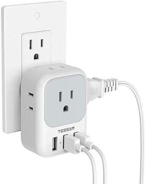 TESSAN Electrical 4-Outlet Box Splitter