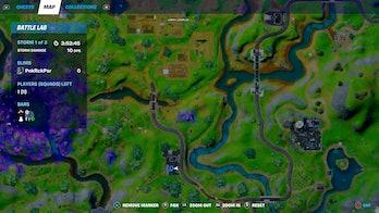 fortnite week 9 alien artifact location 1 map