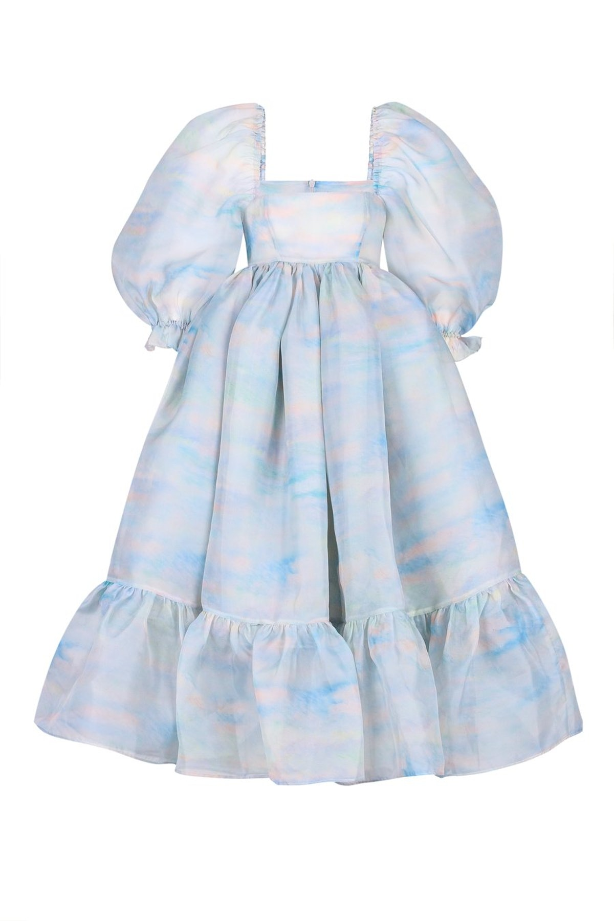The Renoir Sky French Puff Dress