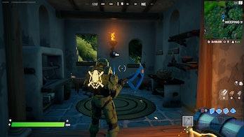 fortnite week 9 alien artifact location 3 gameplay
