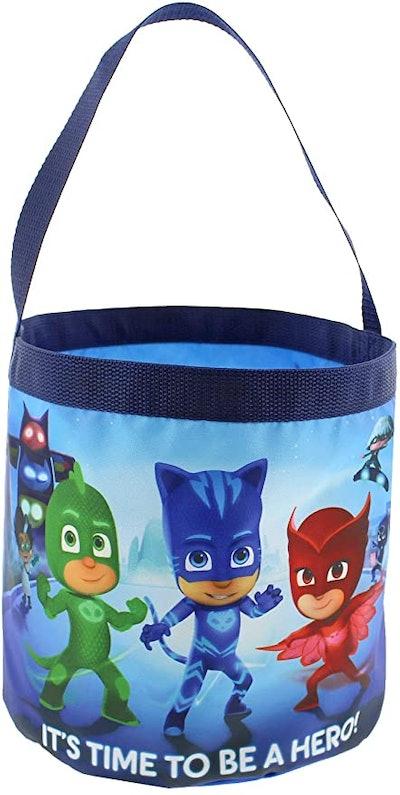 PJ Masks Boys Girls Collapsible Nylon Gift Basket Bucket Toy Storage Gift Tote Bag (One Size, Blue)