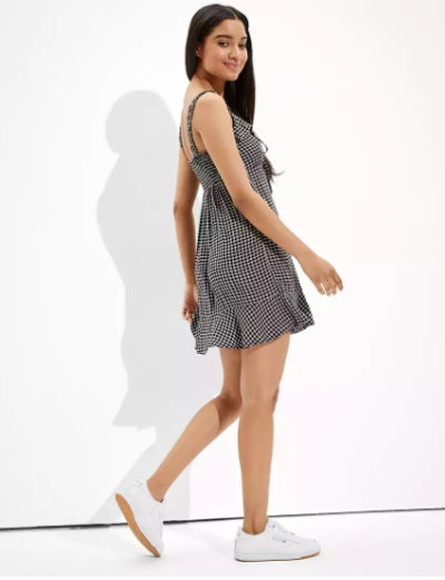 AE Plaid Ruffle Mini Dress