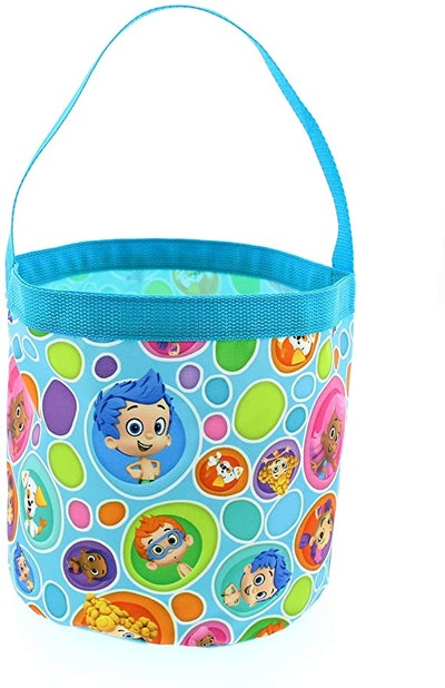 Bubble Guppies Boys Girls Collapsible Nylon Halloween Bucket Toy Storage Tote Bag (One Size, Blue)