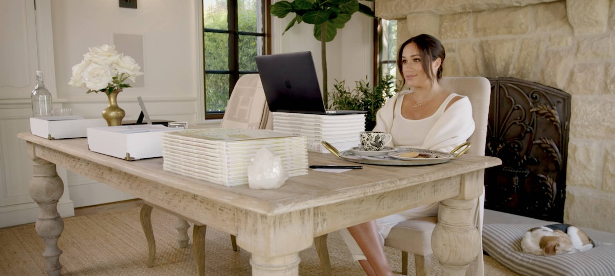 Meghan Markle in her Study.