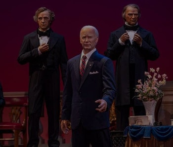 Disney has added an animatronic President Biden to its Hall of Presidents display.