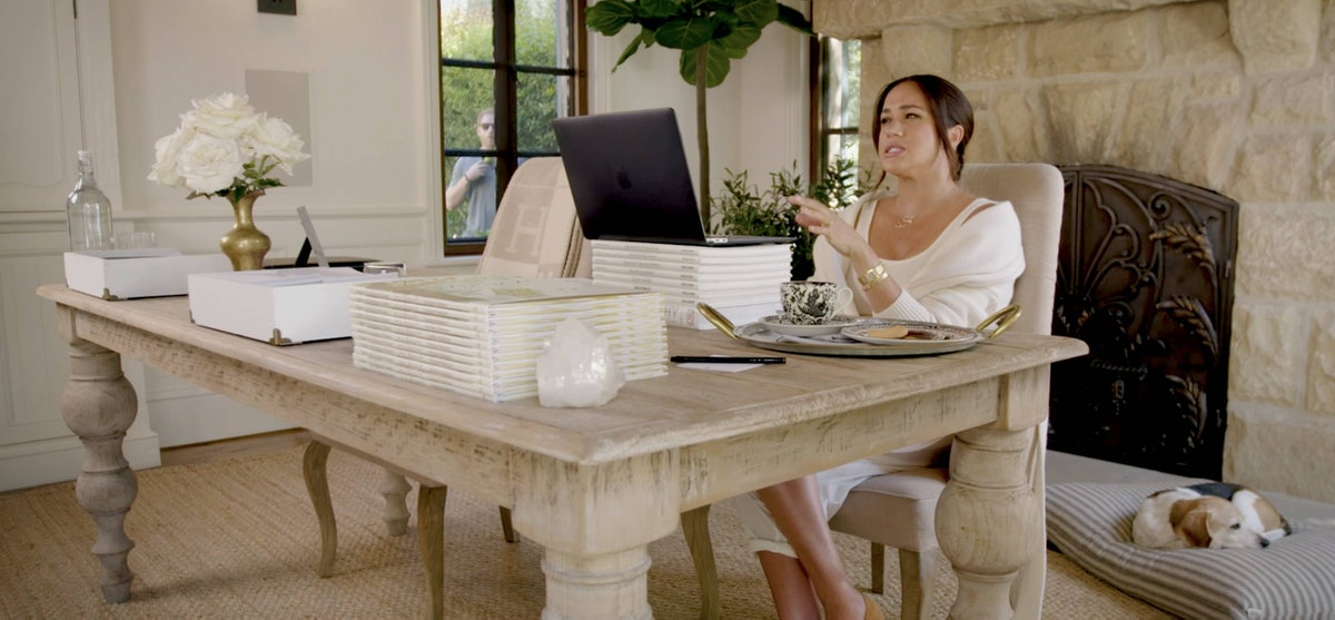 Meghan Markle at home in Montecito.