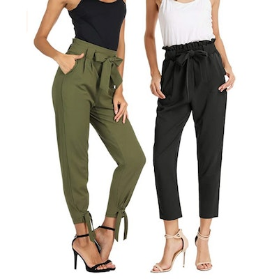 GRACE KARIN High Waist Pencil Pants with Bow-Knot (2-Pack)