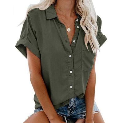 Beautife Short Sleeve Button Down Shirt