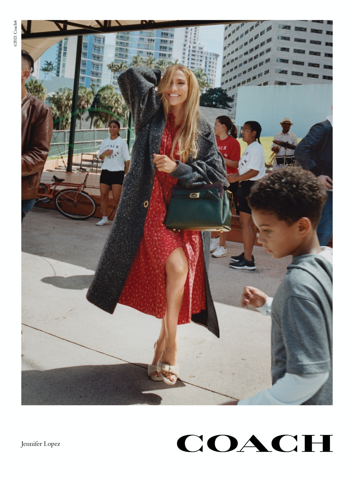 Jennifer Lopez stars in the Coach Fall/Winter 2021 campaign.