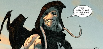 Gorr the God Butcher making his mission known in King Thor Vol. 1 #1