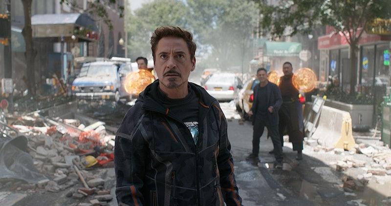 Robert Downey Jr. as Tony Stark/Iron Man prepares for battle in 'Avengers: Infinity War.'