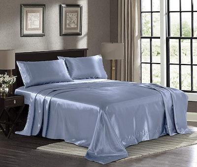 Pure Bedding Satin Sheet Set (4-Piece)