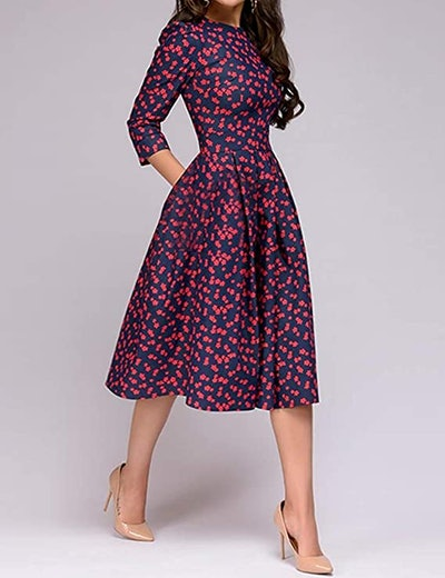 Simple Flavor Floral Vintage Dress