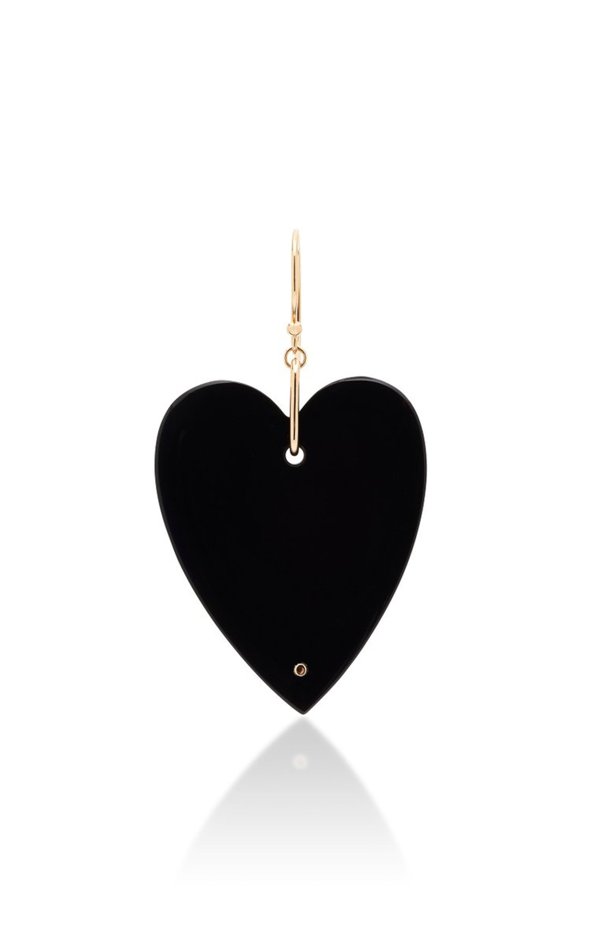 Solo Angèle 18K Rose Gold Onyx Single Earring from Ginette NY, available to shop on Moda Operandi.