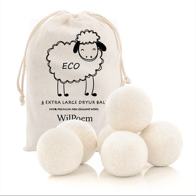 WilPoem New Zealand Wool Dryer Balls (6-Pack)