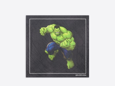 Balenciaga Winter 2021 Marvel Hulk silk scarf