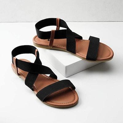 Rekayla Flat Elastic Sandals