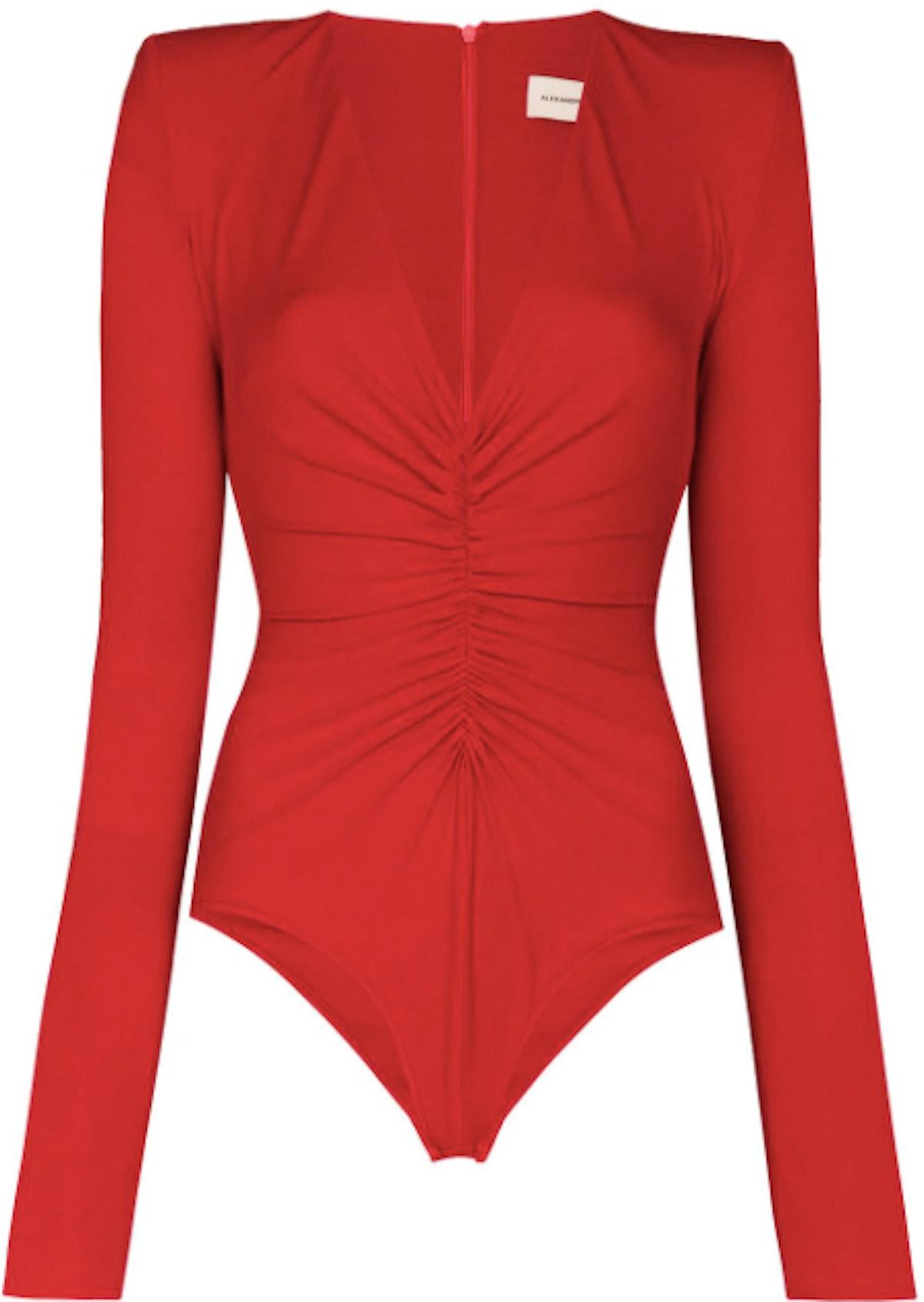 Padded shoulder bodysuit