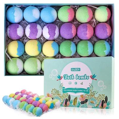 SAZEN Bath Bomb Gift Set (24-Piece)