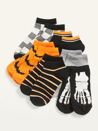 Gender-Neutral Ankle Socks 6-Pack for Kids