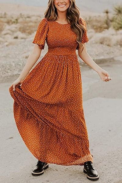 Kranda Smocked Maxi Dress